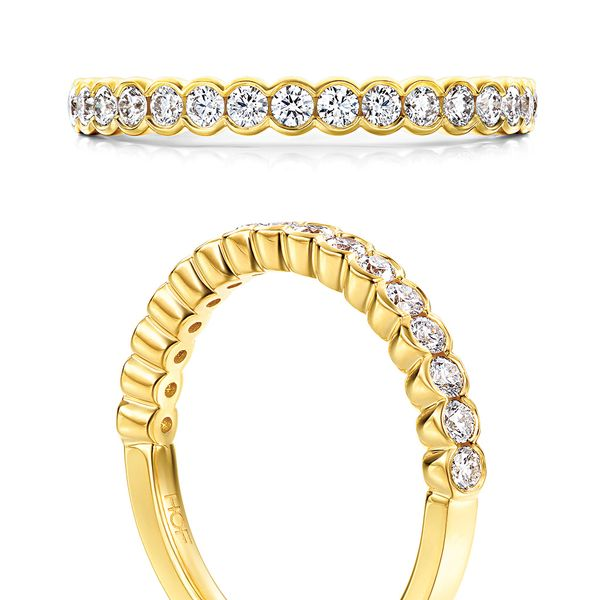 Hearts On Fire Isabelle Yellow Gold Diamond Wedding Band Image 4 Bremer Jewelry Peoria, IL