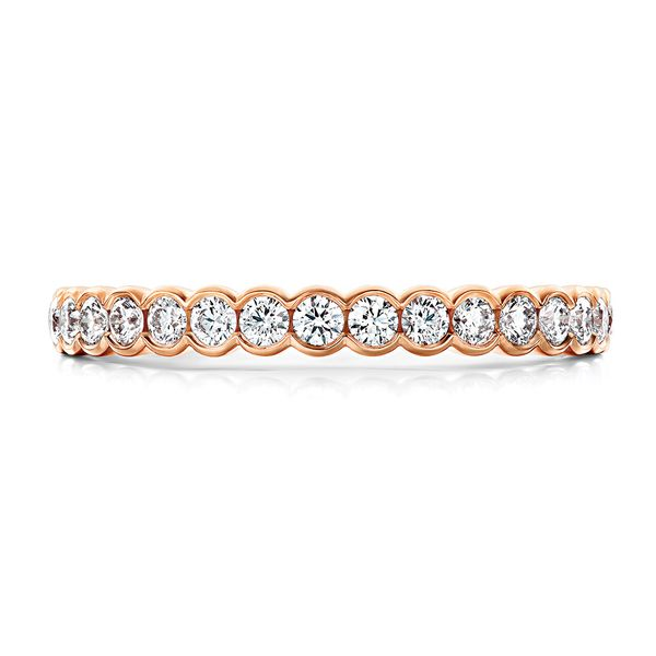 Hearts On Fire Isabelle Diamond Wedding Band in Rose Gold Bremer Jewelry Peoria, IL