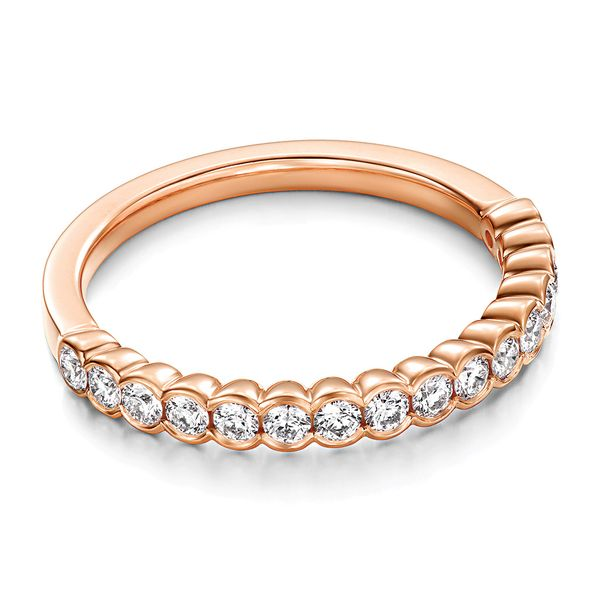 Hearts On Fire Isabelle Rose Gold Diamond Wedding Band Image 2 Bremer Jewelry Peoria, IL