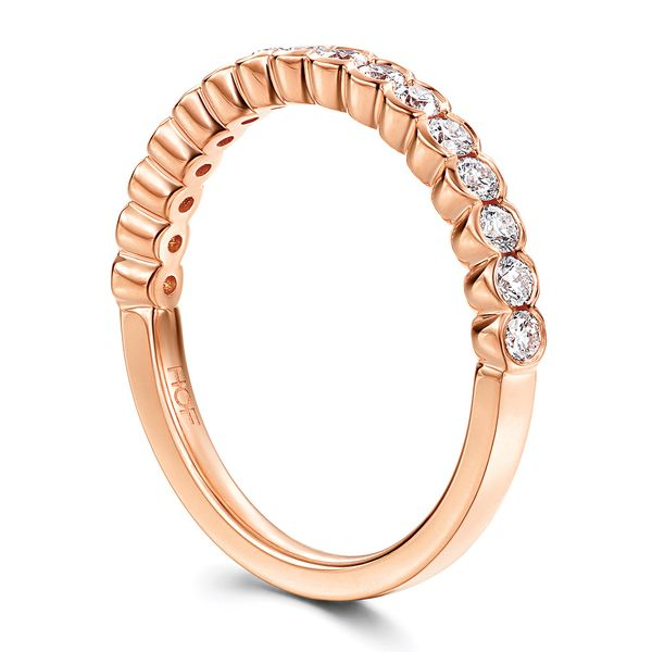 Hearts On Fire Isabelle Rose Gold Diamond Wedding Band Image 3 Bremer Jewelry Peoria, IL