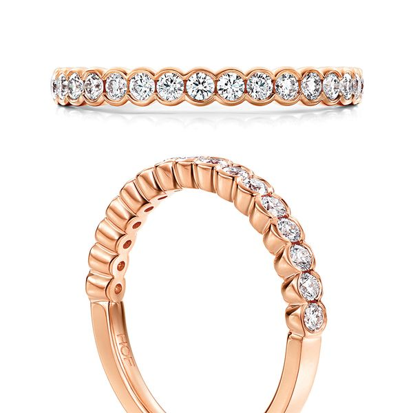 Hearts On Fire Isabelle Diamond Wedding Band in Rose Gold Image 4 Bremer Jewelry Peoria, IL