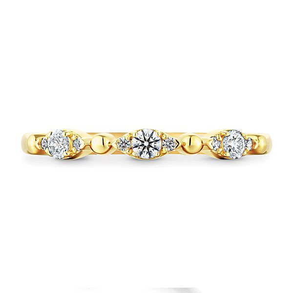 Hearts On Fire Regal Diamond Wedding Band in Yellow Gold Bremer Jewelry Peoria, IL