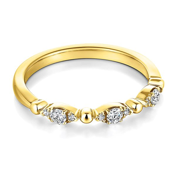 Hearts On Fire Regal Diamond Wedding Band in Yellow Gold Image 2 Bremer Jewelry Peoria, IL
