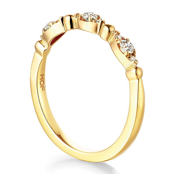 Hearts On Fire Regal Diamond Wedding Band in Yellow Gold Image 3 Bremer Jewelry Peoria, IL