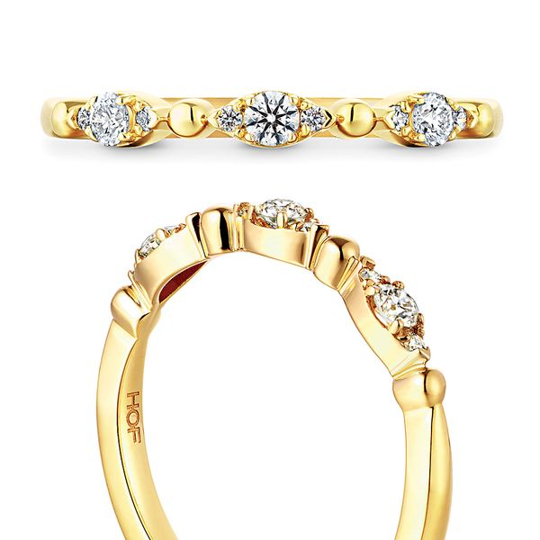 Hearts On Fire Regal Diamond Wedding Band in Yellow Gold Image 4 Bremer Jewelry Peoria, IL