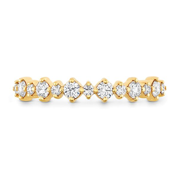 Hearts On Fire Gracious Diamond Wedding Band in Yellow Gold Bremer Jewelry Peoria, IL