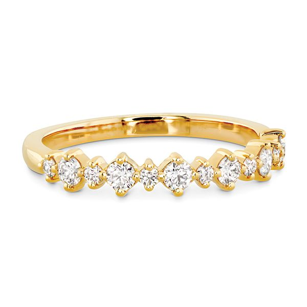 Hearts On Fire Gracious Diamond Wedding Band in Yellow Gold Image 2 Bremer Jewelry Peoria, IL