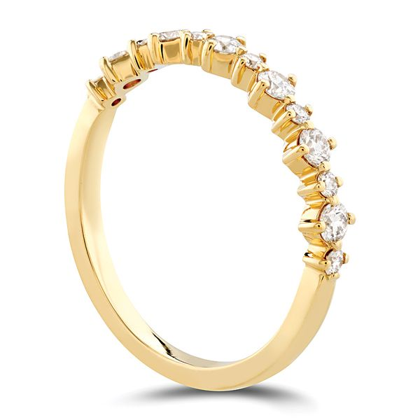 Hearts On Fire Gracious Diamond Wedding Band in Yellow Gold Image 3 Bremer Jewelry Peoria, IL