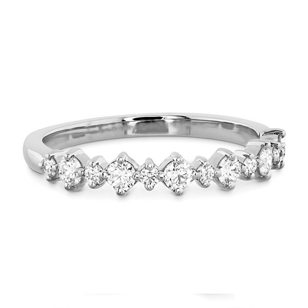 Hearts On Fire Gracious Diamond Wedding Band in White Gold Image 2 Bremer Jewelry Peoria, IL