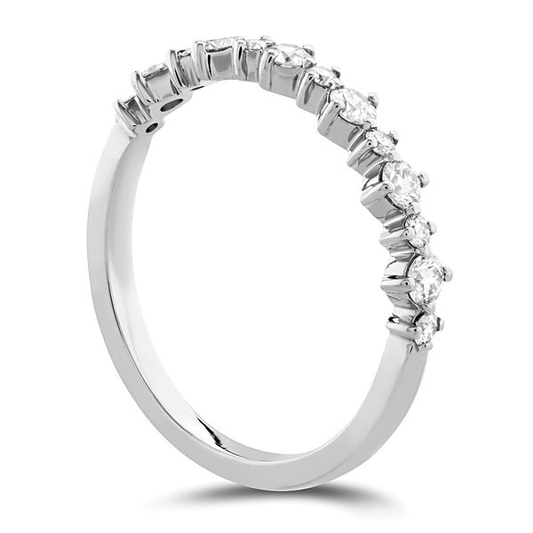 Hearts On Fire Gracious Diamond Wedding Band in White Gold Image 3 Bremer Jewelry Peoria, IL
