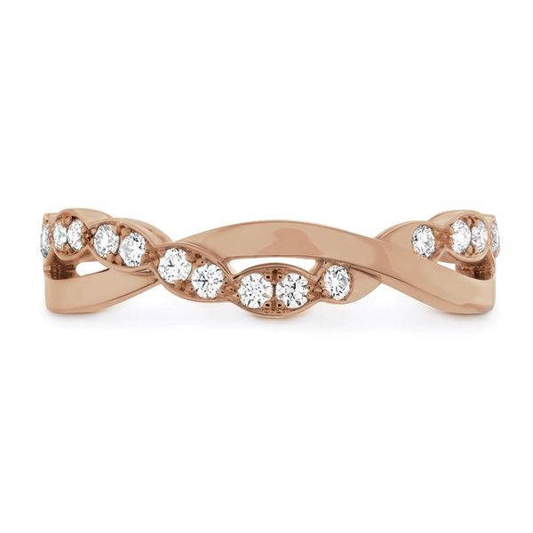 Hearts On Fire Lorelei Floral Rose Gold Diamond Wedding Band Bremer Jewelry Peoria, IL