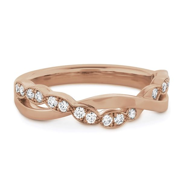 Hearts On Fire Lorelei Floral Rose Gold Diamond Wedding Band Image 2 Bremer Jewelry Peoria, IL