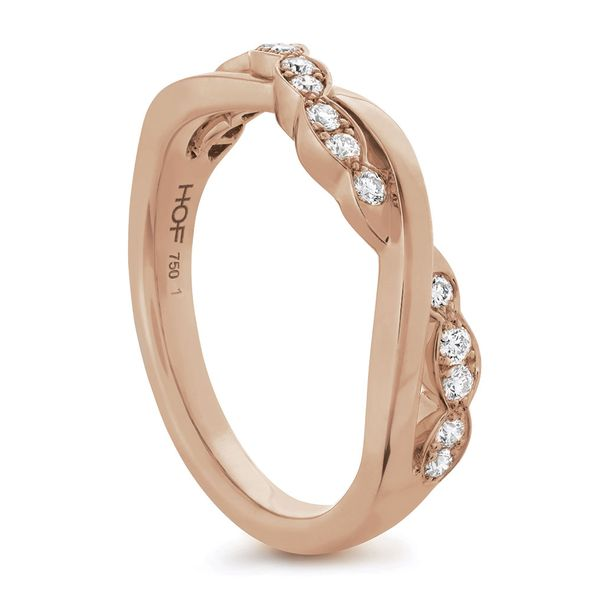 Hearts On Fire Lorelei Floral Rose Gold Diamond Wedding Band Image 3 Bremer Jewelry Peoria, IL