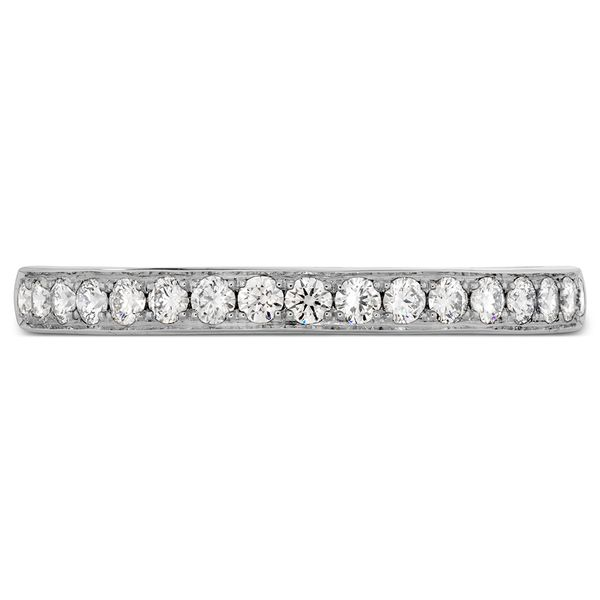 Hearts On Fire Lorelei Straight White Gold Diamond Wedding Band Bremer Jewelry Peoria, IL