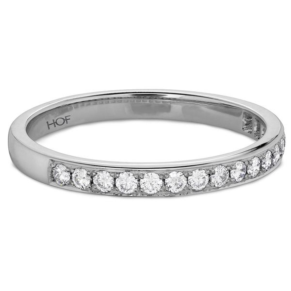 Hearts On Fire Lorelei Straight White Gold Diamond Wedding Band Image 2 Bremer Jewelry Peoria, IL