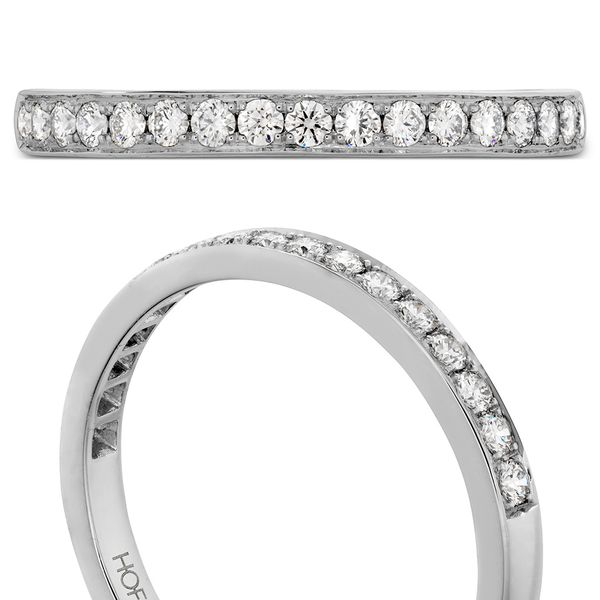 Hearts On Fire Lorelei Straight White Gold Diamond Wedding Band Image 4 Bremer Jewelry Peoria, IL