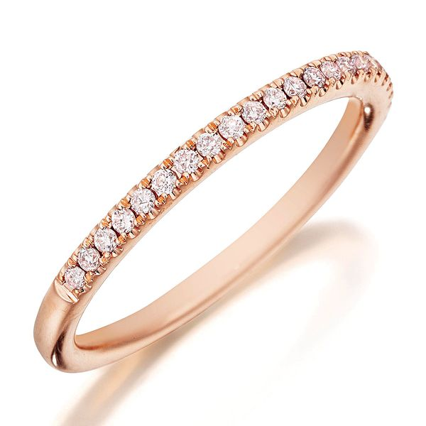 Henri Daussi Rose Gold Diamond Wedding Band Bremer Jewelry Peoria, IL