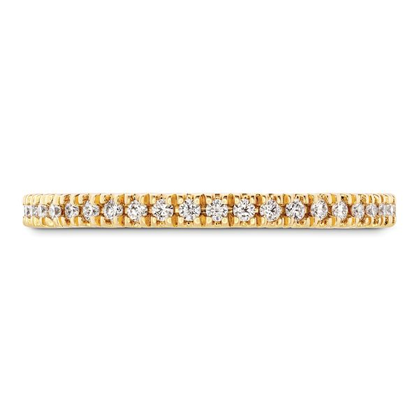 Hayley Paige by HOF Sloane Diamond Wedding Band in Yellow Gold Bremer Jewelry Peoria, IL