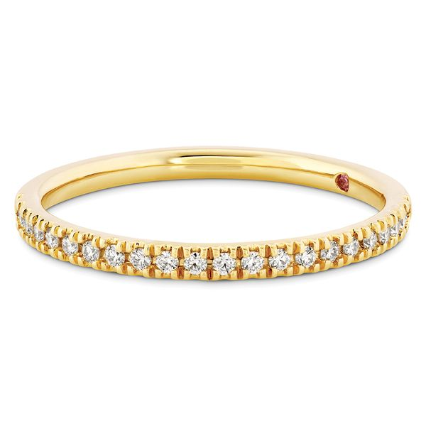 Hayley Paige by HOF Sloane Diamond Wedding Band in Yellow Gold Image 2 Bremer Jewelry Peoria, IL