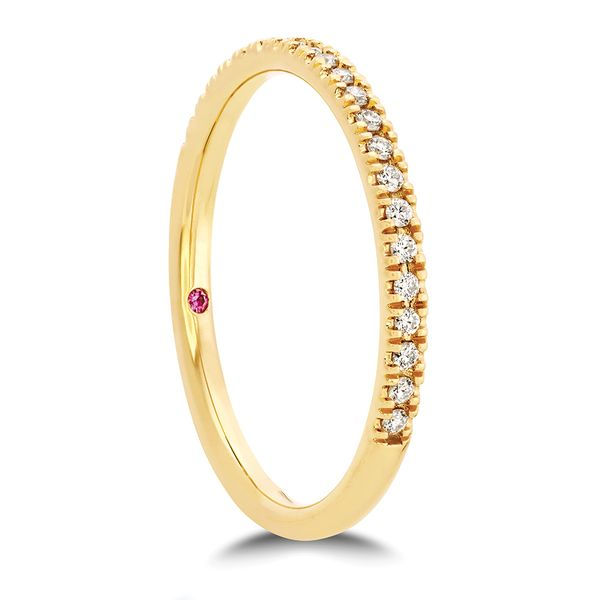 Hayley Paige by HOF Sloane Diamond Wedding Band in Yellow Gold Image 3 Bremer Jewelry Peoria, IL