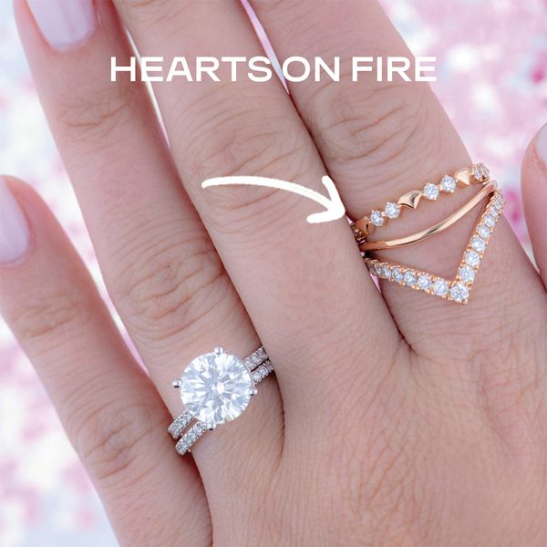 Hayley Paige by HOF Behati Bold Shapes Ring in White Gold Image 4 Bremer Jewelry Peoria, IL