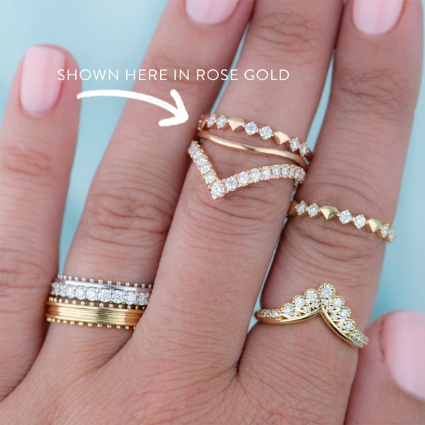 Hayley Paige by HOF Behati Bold Shapes Ring in White Gold Image 5 Bremer Jewelry Peoria, IL