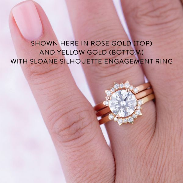 Hayley Paige by HOF Behati Tiara Band in Rose Gold Image 3 Bremer Jewelry Peoria, IL