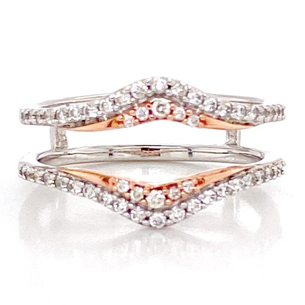 Classic Diamond Ring Guard in White and Rose Gold Bremer Jewelry Peoria, IL