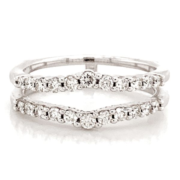 Classic Diamond Ring Guard in White Gold Bremer Jewelry Peoria, IL