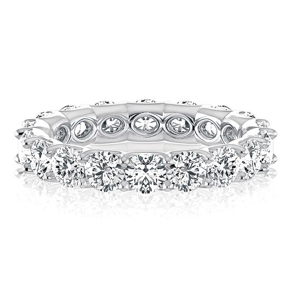 A. Jaffe Round Diamond Eternity Ring in White Gold Bremer Jewelry Peoria, IL