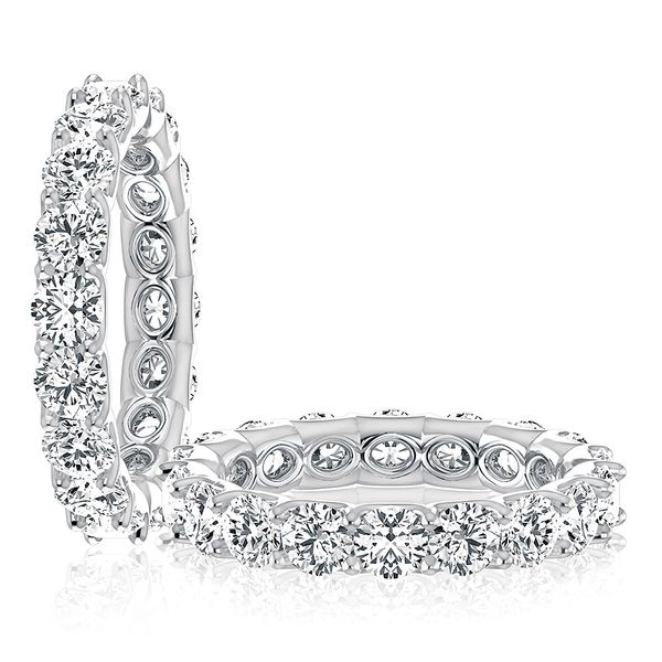 A. Jaffe Round Diamond Eternity Ring in White Gold Image 3 Bremer Jewelry Peoria, IL