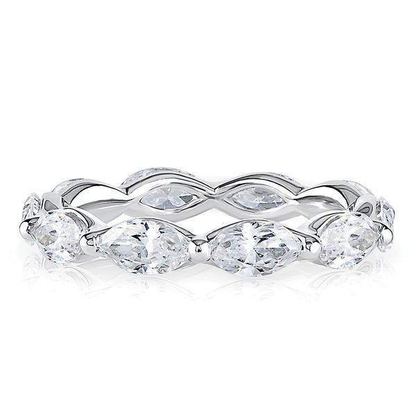 A. Jaffe Marquise Diamond Eternity Ring in White Gold Bremer Jewelry Peoria, IL