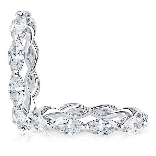 A. Jaffe Marquise Diamond Eternity Ring in White Gold Image 3 Bremer Jewelry Peoria, IL