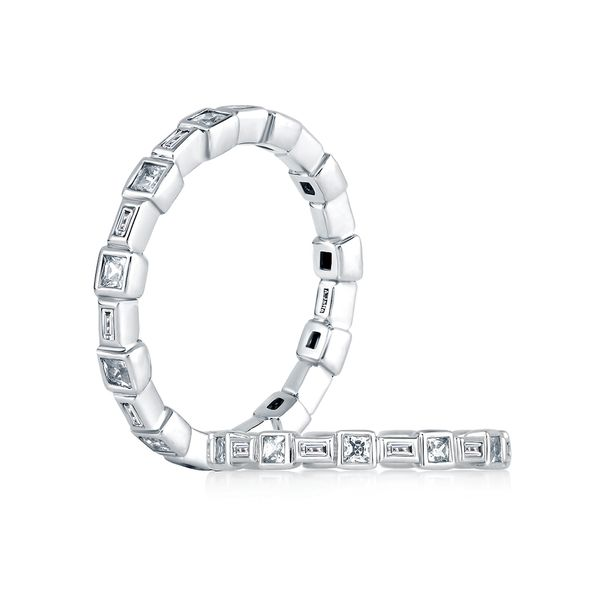 A. Jaffe Metropolitan Eternity Diamond Wedding Band in White Gold Bremer Jewelry Peoria, IL