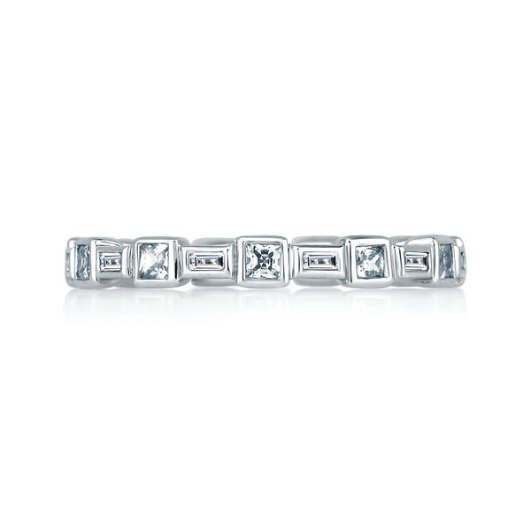 A. Jaffe Metropolitan Eternity Diamond Wedding Band in White Gold Image 2 Bremer Jewelry Peoria, IL