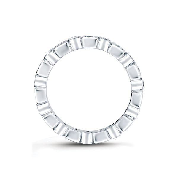 A. Jaffe Metropolitan Eternity Diamond Wedding Band in White Gold Image 3 Bremer Jewelry Peoria, IL