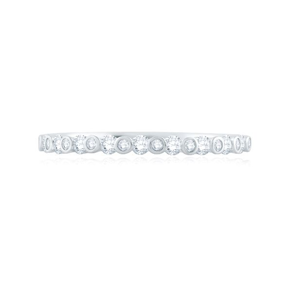 A. Jaffe Diamond Wedding Band in White Gold Image 3 Bremer Jewelry Peoria, IL