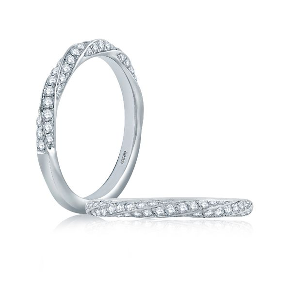 A. Jaffe Diamond Wedding Band in White Gold Bremer Jewelry Peoria, IL