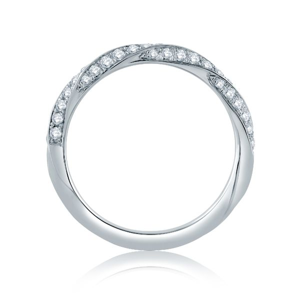 A. Jaffe Diamond Wedding Band in White Gold Image 2 Bremer Jewelry Peoria, IL
