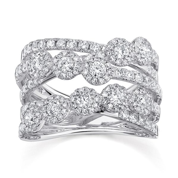 Center Of My World Wide Diamond Fashion Ring in White Gold Bremer Jewelry Peoria, IL