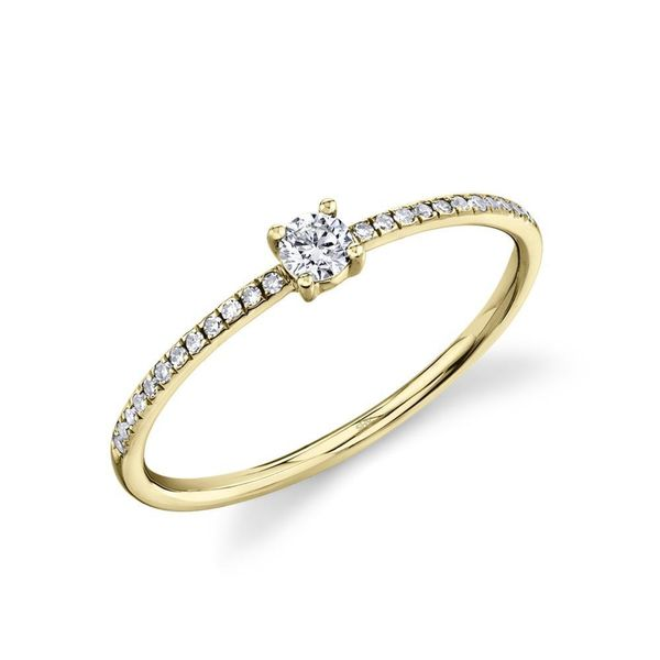 Stackable Diamond Ring in Yellow Gold (0.19 ctw) Bremer Jewelry Peoria, IL