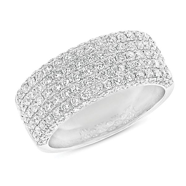 Wide Diamond Fashion Ring in White Gold Image 2 Bremer Jewelry Peoria, IL