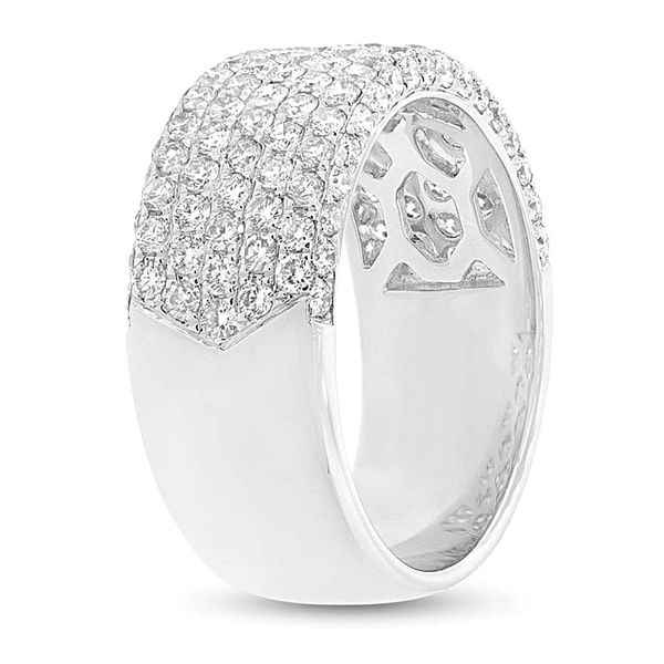 Wide Diamond Fashion Ring in White Gold Image 3 Bremer Jewelry Peoria, IL