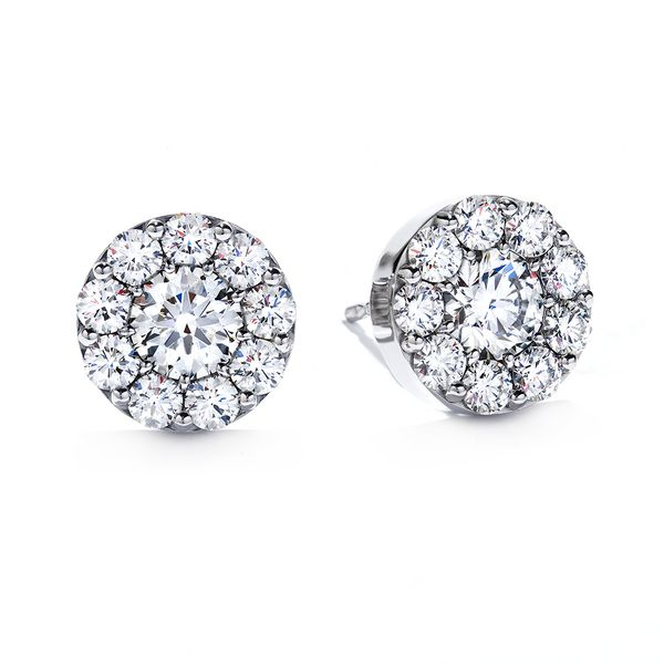 Hearts On Fire Fulfillment Diamond Stud Earrings in White Gold Bremer Jewelry Peoria, IL