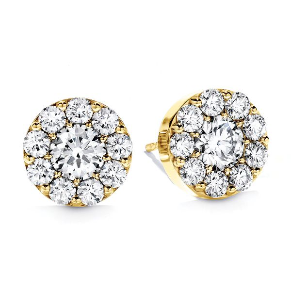 Hearts On Fire Fulfillment Diamond Stud Earrings in Yellow Gold Bremer Jewelry Peoria, IL