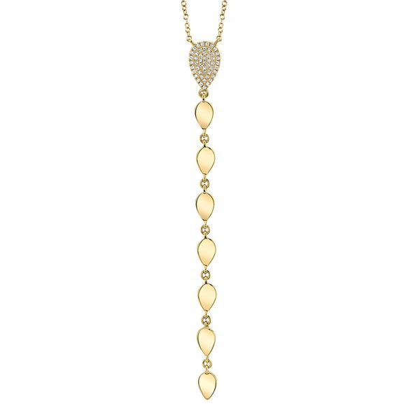 Milestones Lariat Necklace with Diamonds in Yellow Gold Bremer Jewelry Peoria, IL