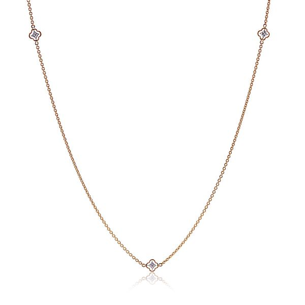 Simon G Two-Tone Diamond Necklace Bremer Jewelry Peoria, IL