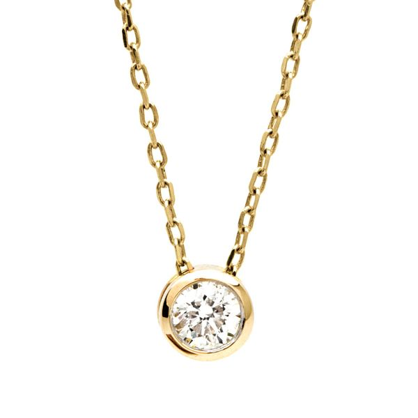 Bremer Jewelry Power Of One Yellow Gold Diamond Necklace Bremer Jewelry Peoria, IL
