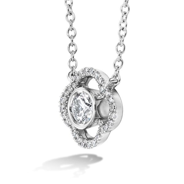 Hearts On Fire Signature Petal Bezel Necklace in White Gold Image 2 Bremer Jewelry Peoria, IL