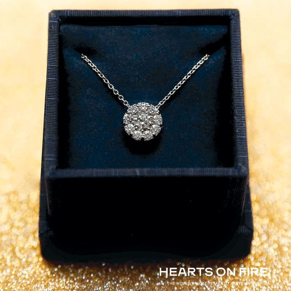 Hearts On Fire Fulfillment Diamond Necklace in White Gold Image 3 Bremer Jewelry Peoria, IL